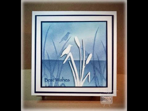 Embossed Cattails Card