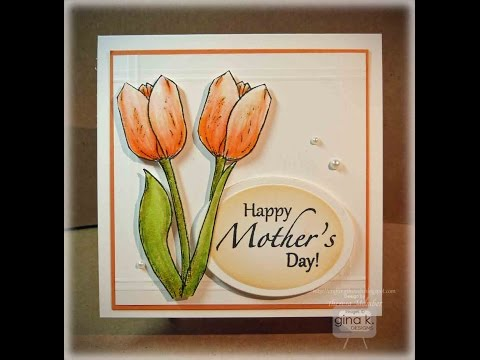 Peach Tulip Card