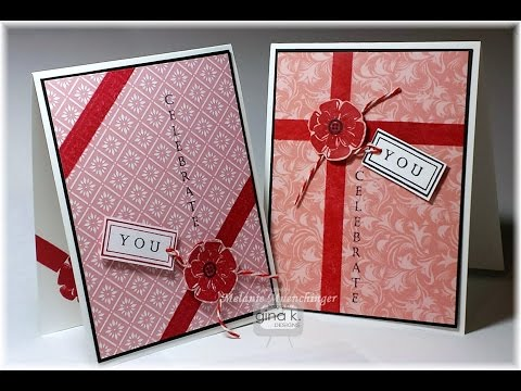 Create Wrapped Package Cards with Stamps & Patterned Paper