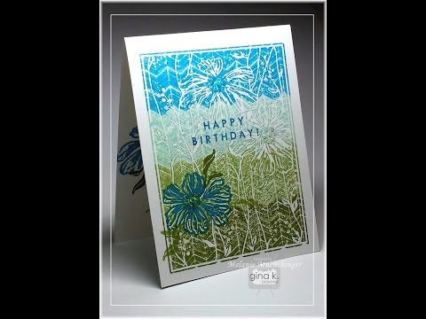 Kissing Technique: Creating Textured Patterns on Bold Stamps