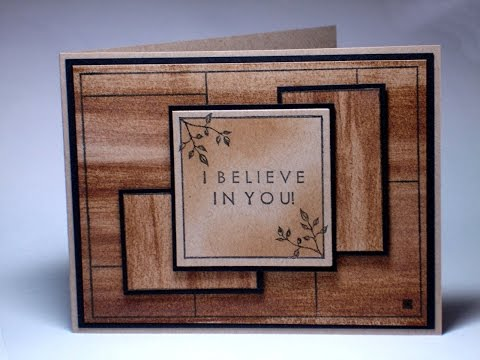 Faux Wood Grain and Paper Pieced Panels