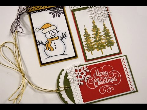 Sparkling Christmas Tags