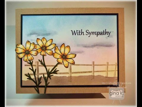Country Flowers Card Tutorial