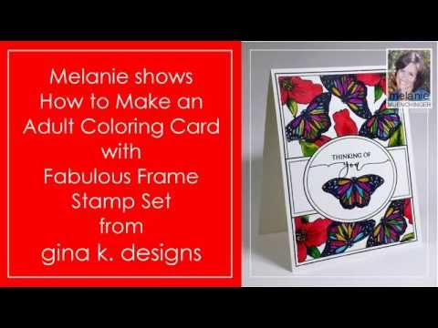 How to Make Adult Coloring Cards with Fabulous Frame