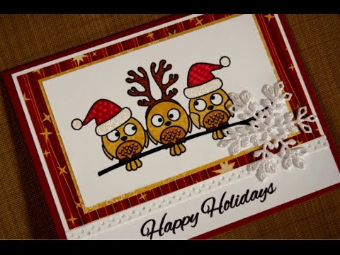 Holiday Owls Card Project