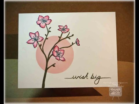 Cherry Blossom Branch Card Tutorial