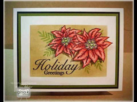 Dashing Poinsettia Card Tutorial