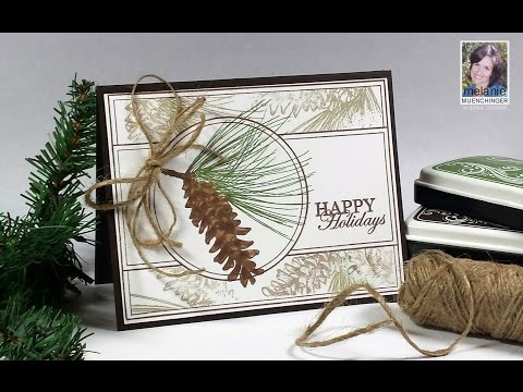 How to Make A Masculine Card with Holiday Frame