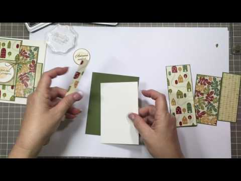 Autumn Wishes Layered Patterned Paper Card