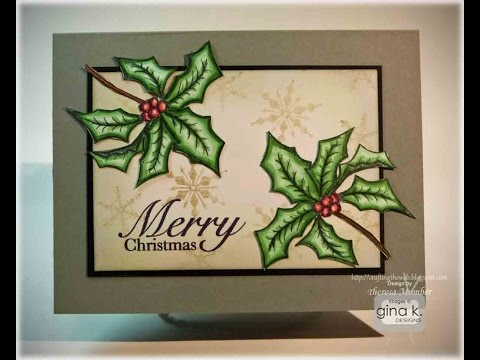 Jolly Holly Card Tutorial