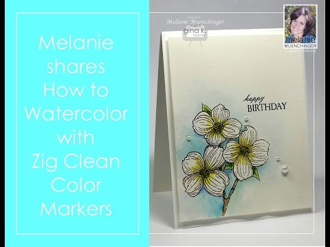 How to Watercolor with Zig Clean Color Markers