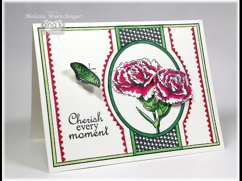 Fabulous Framed Carnations and Two Step Fillers