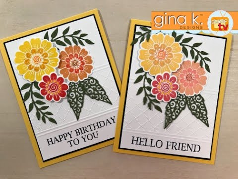 Bold and Blooming- Partial Embossing