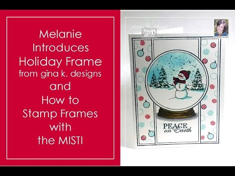 How to Stamp Holiday Frame with MISTI