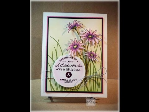 Pink Daisy with Foil Card