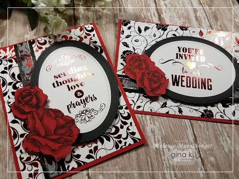How-to Foiling with Gina K. Designs Stamps and Foil-Mates