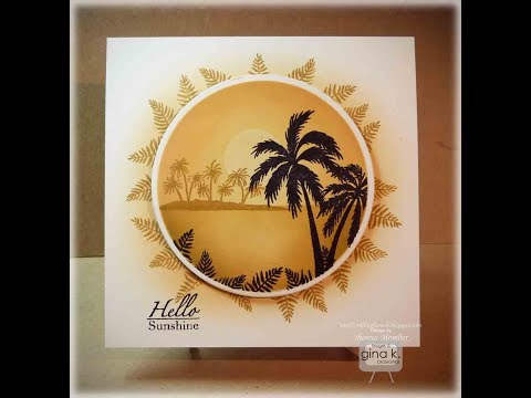 Tropical Round Framescapes Card