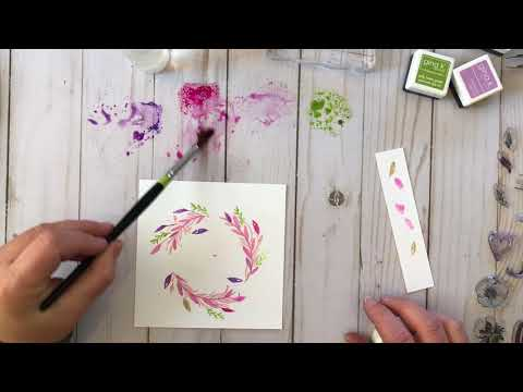 Craft Your Joy: Watercolor Ink Effects with Dye Inks