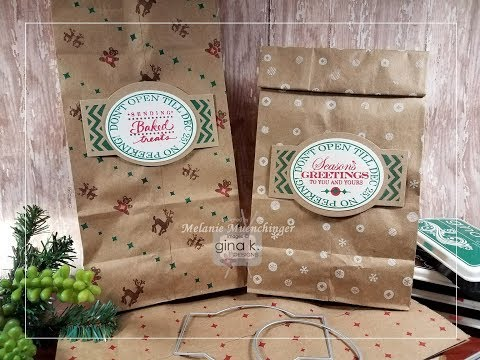 Simple Stamped Brown Paper Packages: Fabulous Holiday Labels