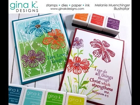 Double Stamp Inks to Create New Colors with the MISTI (plus bonus card)