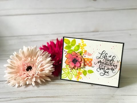 Craft Your Joy Card Tutorial: Watercolor Layers + Pattern Stamping