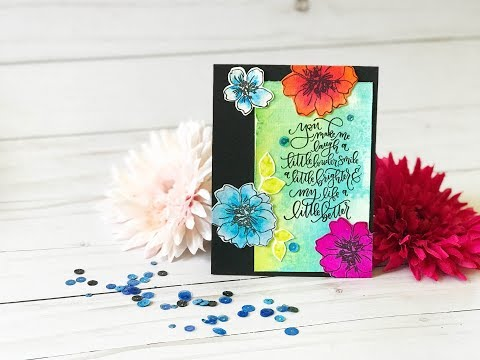 Craft Your Joy Card Tutorial: Watercolor Flowers 3 Ways