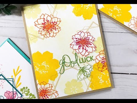 Card Tutorial: Stamping Layers + Backgrounds