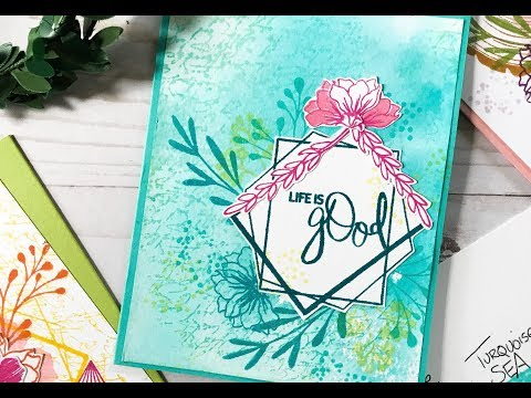 Card Tutorial: Stamp Layering + Color Mixing