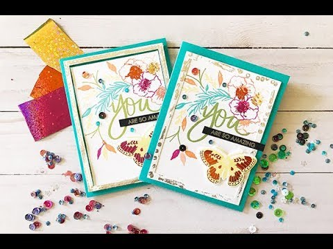 Craft Your Joy Simple + Sparkly Card Design