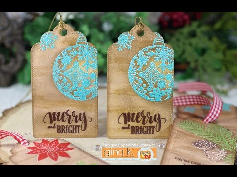 Merry and Bright Christmas Tag