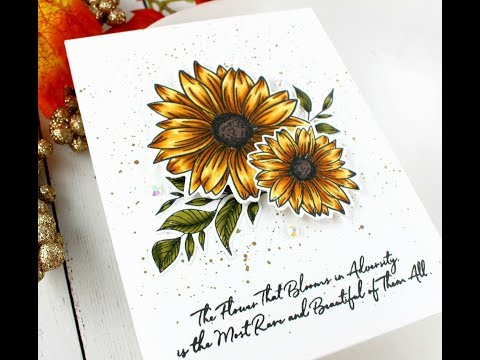 Gina K Designs Whimsical Wildflower Copic Coloring