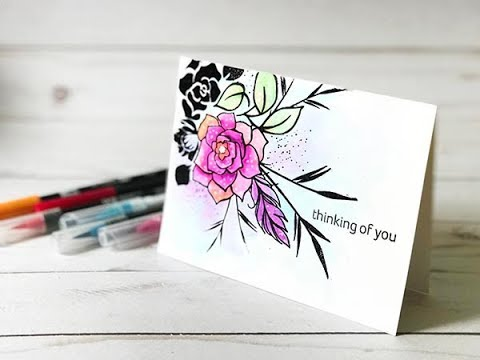 Craft Your Joy Card Tutorial: Watercolor Marker Mojo Fun