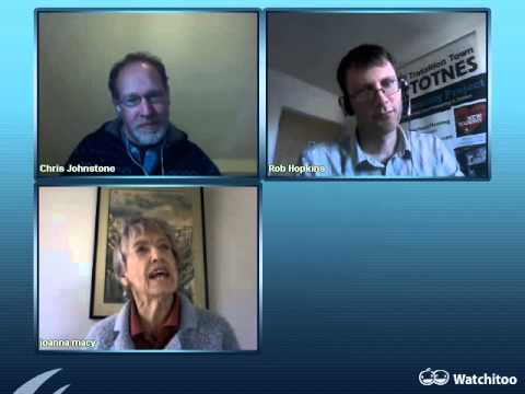 Webinar recording of Joanna Macy, Chris Johnstone and Rob Hopkins interview