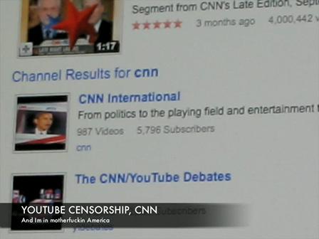 Youtube censorship of CNN