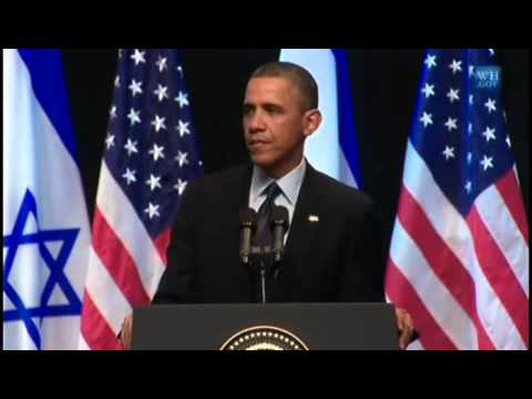 President Obama's Speech in the Jerusalem Convention Center