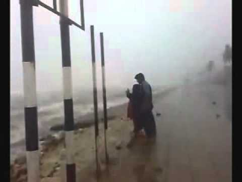 Omani charming practiced magic ritual in a storm