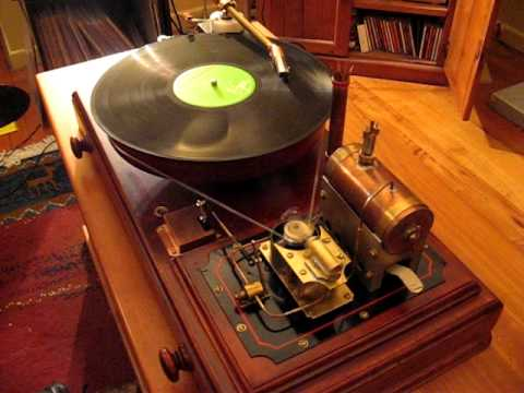 Steampunk turntable that actually runs on steam