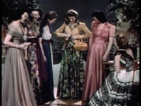 Vintage 1940's Fashion - Evening Dresses