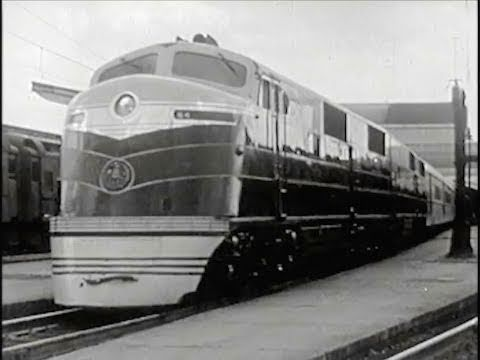 The Passenger Train - 1940 - Historic Baltimore & Ohio Railroad Trains in America