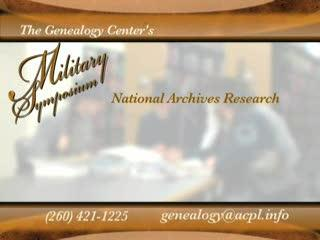 Genealogy Center's Military Symposium Part 2