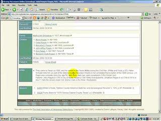 Part 3 of Online Genealogy Information Gathering Method