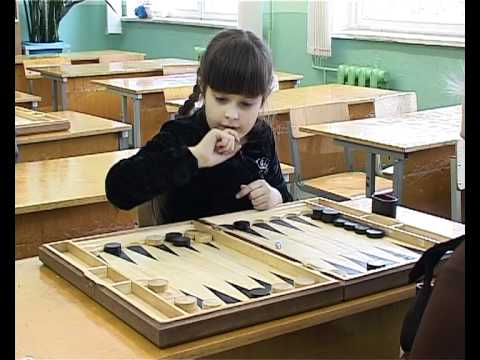 Backgammon Lessons in the School, Smolensk, Russia