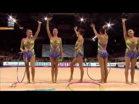 Bulgaria 2 Hoops 6 Clubs - Stuttgart 2015, World Rhythmic Gymnastics Championship