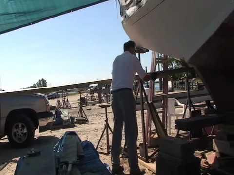 At Scott's Cove:  7/3/10  Longitudinal Board Port Side Part 2