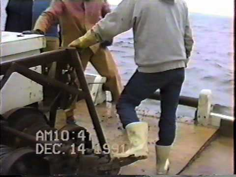 Dredging Oysters on the  Skipjack Ida May:  12/14/1991 Part 2