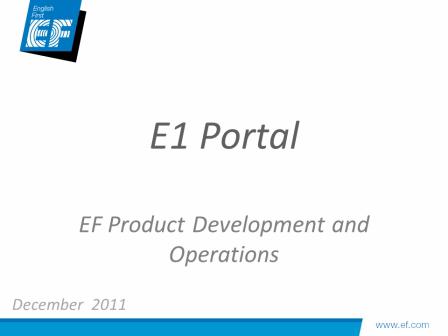 e1 Portal