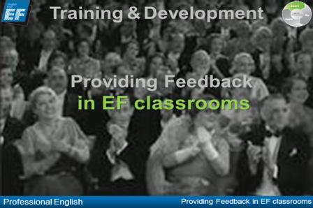Providing Feedback in EF Classrooms