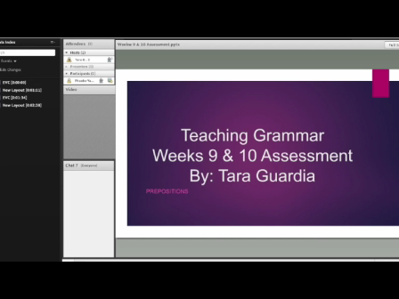 Teaching Prepositions Online with Tara Guardia