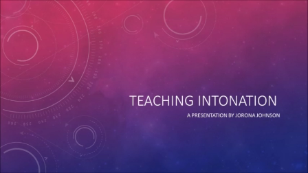 Teaching Intonation_Jorona-Johnson