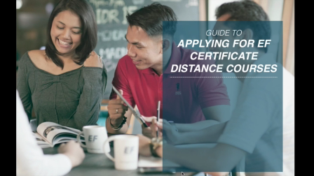 How to Apply for EF Distance Learning Courses